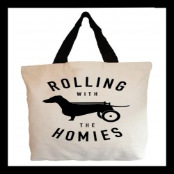 100% of profits from this durable, roomy, adorable tote bag from Beangoods benefit The Frankie Wheelchair Fund