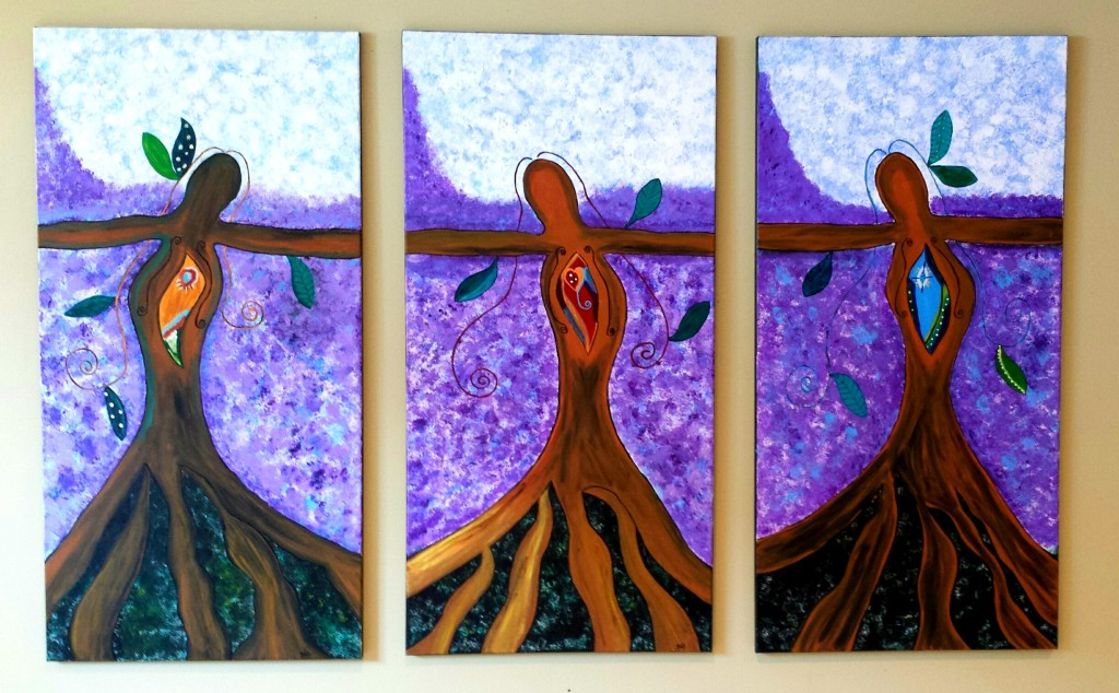 Goddess Paintings Now Grace My Studio. They Have Much Wisdom to Share.