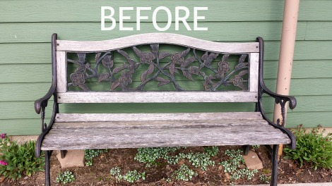 Oh the Stories this Bench Could Tell. Now Rejuvenated with a New Look. Come See!