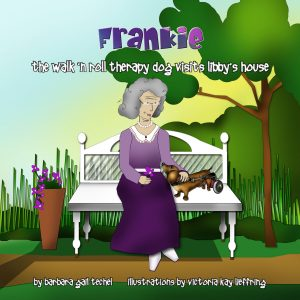 Frankie the Walk 'N Roll Therapy Dog Visits Libby's House by Barbara Techel