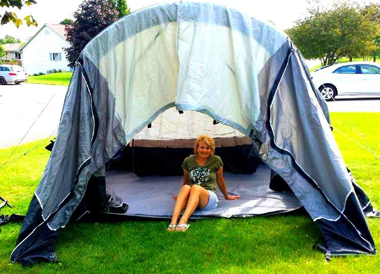 Have Van Will Travel: Cicadas, Airbeam Tent & Excitement Building